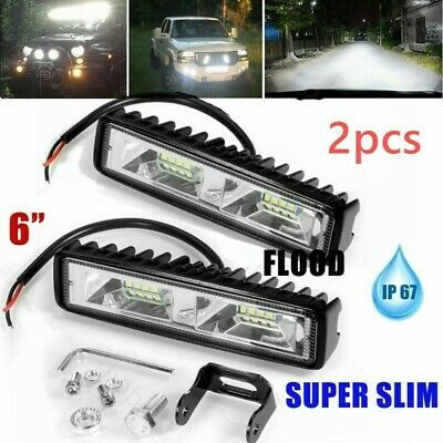 AU15.97 • Buy 6inch 18W LED WORK LIGHT OFFROAD FLOOD DRIVING BAR CAR AUTO MOTORCYCLE LAMP ATV