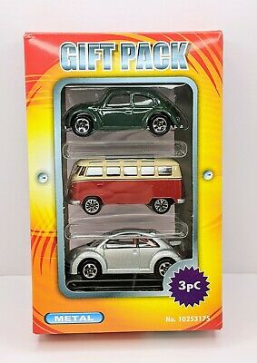 RealToy Model Car VW Volkswagen Gift Set Beetle Split Screen Samba Van *Boxed* • 5.95£