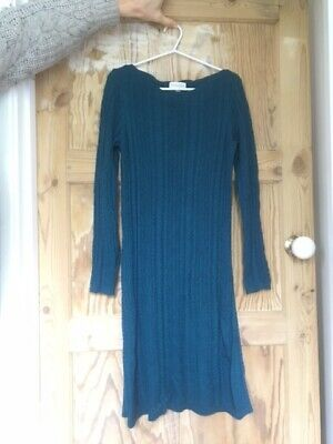 £8 • Buy Monsoon Size S Cable Knit Dress In Teal