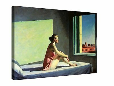£21 • Buy Morning Sun Edward Hopper Canvas Wall Art Picture Print 30x20 Inch Ready To Hang