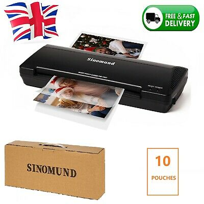 £19.99 • Buy A4 Laminator Laminates A4 & A5 Hot Cold Laminating Machine For Office Home Black