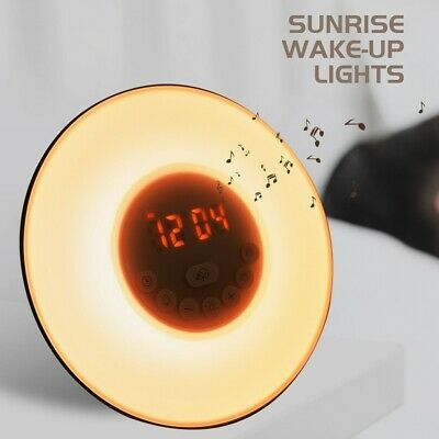 AU34.99 • Buy Sunrise Wake-up Light Alarm Clock LED Touch Light Colorful Night Lamp FM Radio