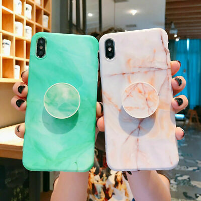 AU13.36 • Buy For IPhone 11 12 PRO MAX Mini 8 Plus XR X Marble Phone Case Cover Socket Holder