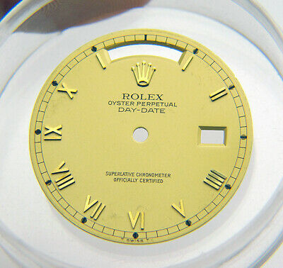 $ CDN220.30 • Buy Vintage Genuine Rolex Day Date President 18038 Champagne Gold Roman Watch Dial