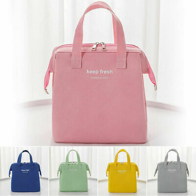 AU18.21 • Buy Thermal Insulated Lunch Bag Cool Bag Picnic Lunch Box Food Storage