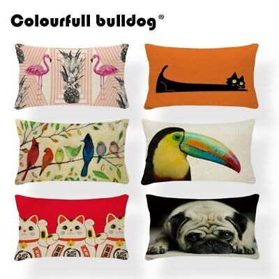£2.99 • Buy Animal Bird Cushion Cover Dachshund Dog Pillow Case Geometry Classic Couch