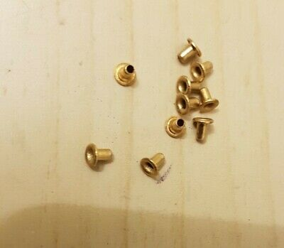 £1.95 • Buy 10 X Eyelets Brass Rivets 2mm X 3mm For Hornby Triang