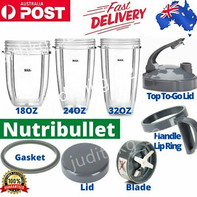 AU47.42 • Buy Nutribullet Cups Replacement Parts Gasket Lid Extractor Blade 600W & 900W Model