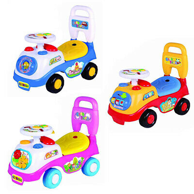 £19.88 • Buy Kids First Ride On Toy Car Girls Boys Push Along Musical Car Children Gifts