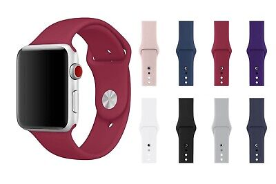 £2.77 • Buy For Apple Watch Strap Band IWatch Series 6 SE 5 4 3 38/40/42/44mm SILICONE SPORT