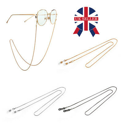 £3.88 • Buy Glasses Neck Chain Cord Lanyard Gold Silver Gun Retainer Spectacles Sunglasses P