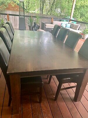 AU300 • Buy Dining Table And 8 Leather Chairs