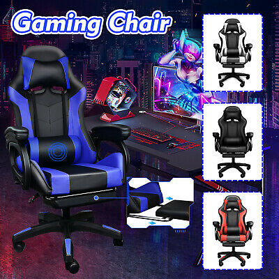 AU119.69 • Buy Gaming Chair Office Chair Computer Executive Chairs Seating Footrest Racer