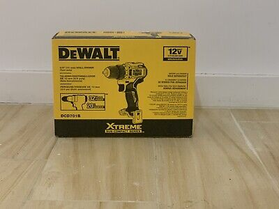 DeWALT DCD701B XTREME 12V MAX Brushless 3/8 Cordless Drill Diver (Tool Only) • 50.75£