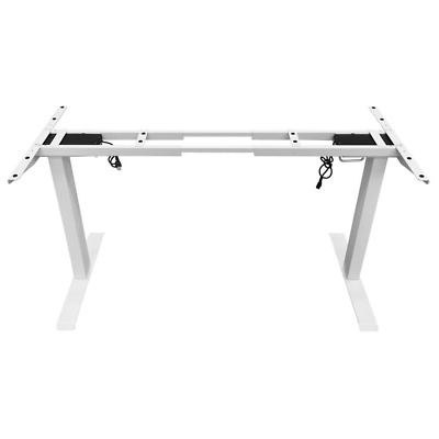 AU295 • Buy Standing Desk Height Adjustable Sit Stand Motorised Dual Motors Frame White Only