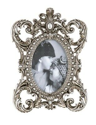 £12.99 • Buy Vintage Pewter Effect Ornate Gold/Silver Baroque Rococo-stylePhoto Picture Frame