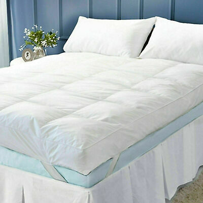 Luxury Soft Mattress Topper Microfiber Protector 2 Inch 600 TC Cover All Sizes