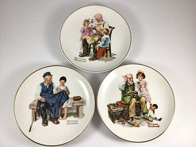 $ CDN12.54 • Buy Vintage 1984 Lot Of 3 Norman Rockwell Museum  6-1/2  Collector Plates
