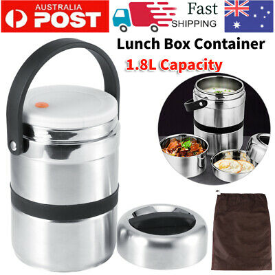 AU39.98 • Buy 1.8L Hot Cold Thermos Food Container Vacuum Insulated Lunch Box Stainless Steel