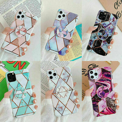 AU12.99 • Buy Marble Phone Case Cover With Stand Holder For IPhone 11 Pro Max XS XR 8 7 SE