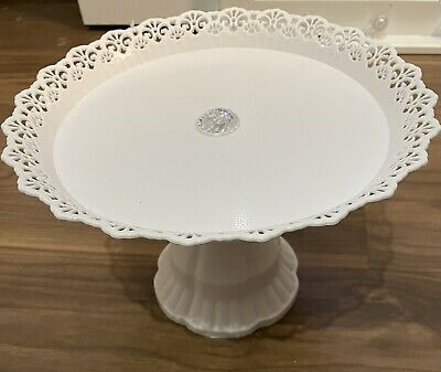 £7.39 • Buy White Plastic Traditional Desserts Cake Stand Plate Display