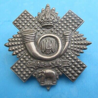 The Highland Light Infantry British Army/Military Hat/Cap Badge • 5.25£