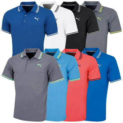 AU32.30 • Buy Puma Golf Mens Pounce Pique DryCELL Moisture Wicking Polo Shirt 46% OFF RRP