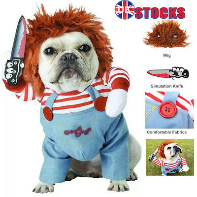 £10.99 • Buy Pet Dog Cat Winter Clothes Party Fancy Dress Cosplay Funny Outfit Costume SML UK