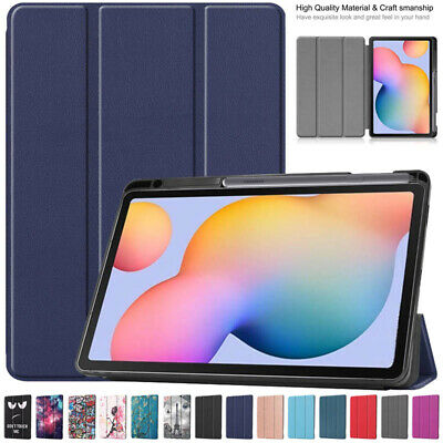 AU22.49 • Buy Slim Smart Flip Case Cover With Pen Holder For Samsung Galaxy Tab S6 Lite 10.4