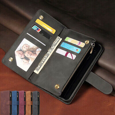 AU15.99 • Buy For Samsung S21+ Ultra Note 20 S10 S9 Plus Leather Zipper Wallet Card Case Cover