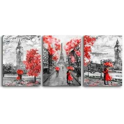 £4.99 • Buy Eiffel Tower Romantic Lover Art Picture Canvas Painting Living Room Home Decor