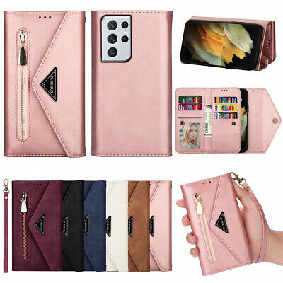 AU17.59 • Buy For Samsung S21+ Note 20 S20 Ultra S10 S9 Case Leather Flip Wallet Cards Cover