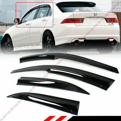 $28.49 • Buy For 2004-2008 Acura Tsx Cl8 Euro-r Jdm 3d Wavy Window Visor Sun Shade Rain Guard