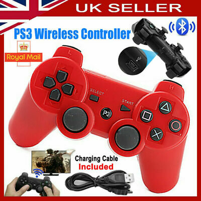 UK PS3 Controller PlayStation3 Wireless SixAxis GamePad With Data Cable New • 8.39£