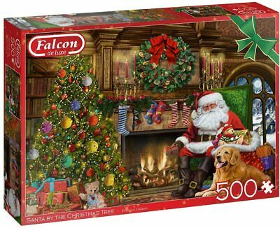 £11.75 • Buy NEW! Falcon De Luxe Santa By The Christmas Tree 500 Piece Jigsaw Puzzle