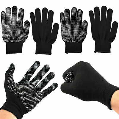 £3.49 • Buy 4pcs Heat Resistant Gloves Curling Protective Heat Proof For Hair Straightener