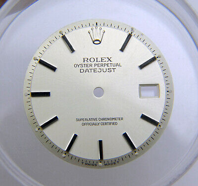 $ CDN302.30 • Buy Vintage Genuine Factory Rolex 36mm Datejust Pie Pan Silver Watch Dial 1601 1603