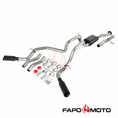 $399.99 • Buy FAPO Dual Exhaust For 1999-2006 Silverado Sierra 1500 GM V8 Black Tips Cat-Back