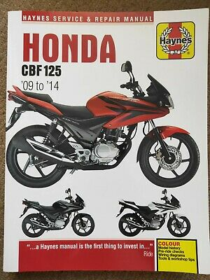 Honda CBF125 2009-2014 Haynes Service And Repair Manual • 9£