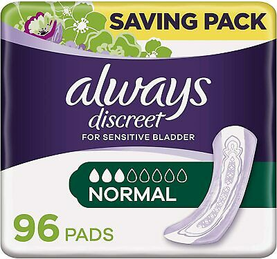 £17.99 • Buy Always Discreet Incontinence Pads For Sensitive Bladder (Normal) - 96 PADS