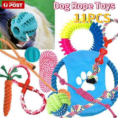 AU14.19 • Buy Dog Rope Toys Nolsen Pet Puppy Chew Toy Gift Set Durable Cotton Clean Teeth 11x