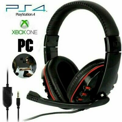 AU15.68 • Buy Gaming Headset For Xbox One PS4 Nintendo Switch & PC 3.5mm Mic Headphones Pro