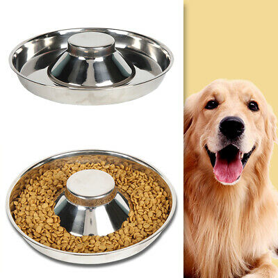 £8.78 • Buy Pet Cat Litter Food Feeding Weaning Silver Stainless Feeder Bowl Dish Puppy Dog