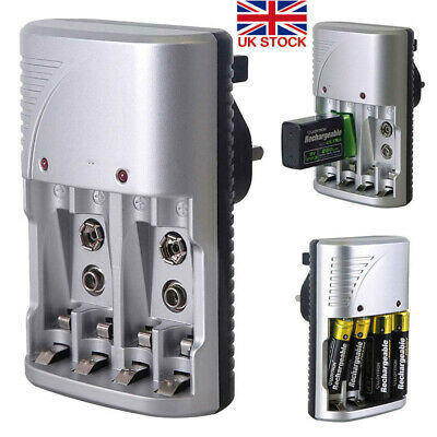 £8.49 • Buy Mains Intelligent Multi Battery Charger For AA AAA & 9V Sizes UK Plug-Charger