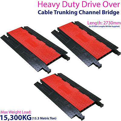 £649.99 • Buy 3x 15,300KG 5 Channel Drive Over Cable Protector-Outdoor Trunking Bridge Ducting