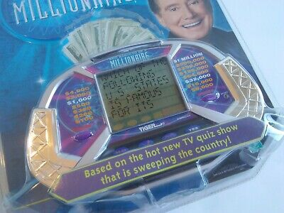 £14.57 • Buy Vintage 2000 Tiger WHO WANTS TO BE A MILLIONAIRE Handheld Quiz-Show Game SEALED!