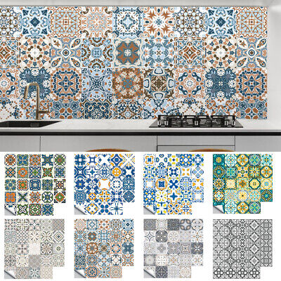 £6.99 • Buy 24X Kitchen Tile Stickers Bathroom Mosaic Sticker Self-adhesive Wall Decal Decor