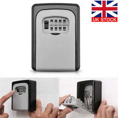 Outdoor Combination Key Safe Box Wall Mounted Security Keys Lock Storage 4 Digit • 10.49£