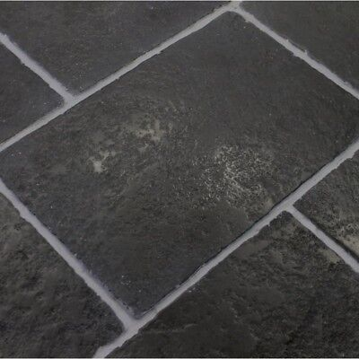 £25.95 • Buy Tumbled Aged Cathedral Black Limestone Tiles Slabs Aged Flagstones 900x600x22 Mm