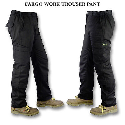 £14.49 • Buy NEW Mens Combat Work Trousers Size 30 To 48 CARGO & KNEE PAD POCKETS Elasticated